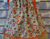 Floral and Stripe Pillow Case Dress Size 3