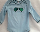 Aviator Sunglasses Thermal Onsie 12 to 18 Months
