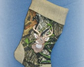 Embroidered Camo Stocking
