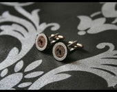 Time Travelling Cufflinks Silver / Black
