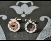 Time Travelling Cufflinks Silver