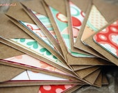 Blank Mini Card Set of 10, Various Valentine Designs with Natural Kraft Envelopes, Handmade Paper Goods by mad4plaid on Etsy