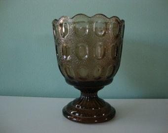 Brown Glass brody vase brown vase EO Brody vase brody glass brown glass vase centerpiece small vase flower vase short vase compote vase
