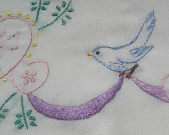 Sew Pretty Pillowcases - Bluebirds and Heart- Set of 2