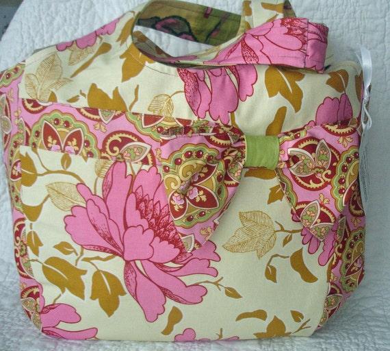 Handbag Purse Tote - The Aberdeen Market Tote - Amy Butler