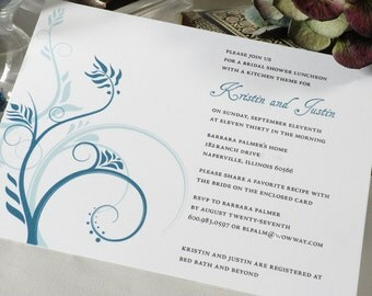 Custom Bridal Shower Invitations with Recipe Cards (10pk)