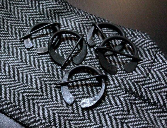 Blacksmithed steel pin
