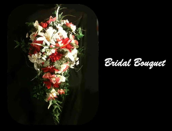 Reserved for Angel121267-Cascade Hawaiian Flower Brides Bouquet - FREE Shipping