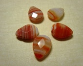 18mm by 12mm Striped Agate Briolettes