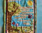 Cezanne Quote Mini Art Quilt- published piece