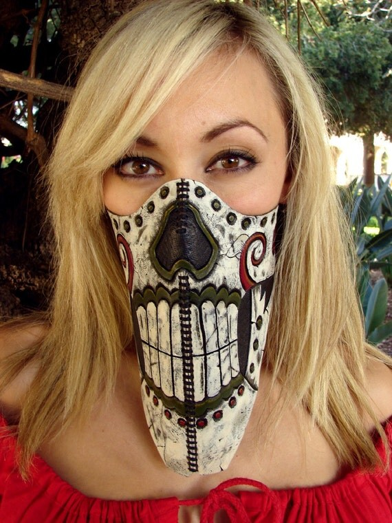 Calavera Loca Motorcycle Riding Mask