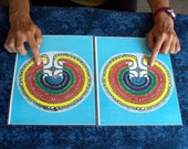 Chakra Balance Labyrinths for tabletop - designed and made by Jan