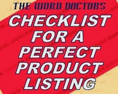 Your Checklist for a Perfect Product Listing, a DIY guide in PDF format