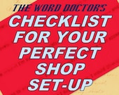 Your Checklist for a Perfect Shop Set-Up, a DIY guide in PDF instant download