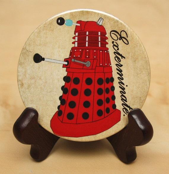 Doctor Who POCKET MIRROR Dalek - geekery - sci-fi