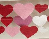 Wool Felt Garland - Be My Valentine - 9 Foot Length