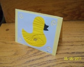Rubber Duckie Iris Folded Card