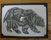 Black Bear Iris Folded Card