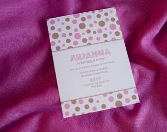 Binky - baby shower invitation