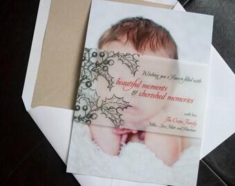 Holly Berry - Keepsake Holiday Photo Card