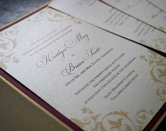 """Elegant Vines Wedding Invitation Sample - """"Madison"""""""