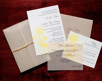 "Sunflower Wedding Invitation Sample - ""Abilene"""