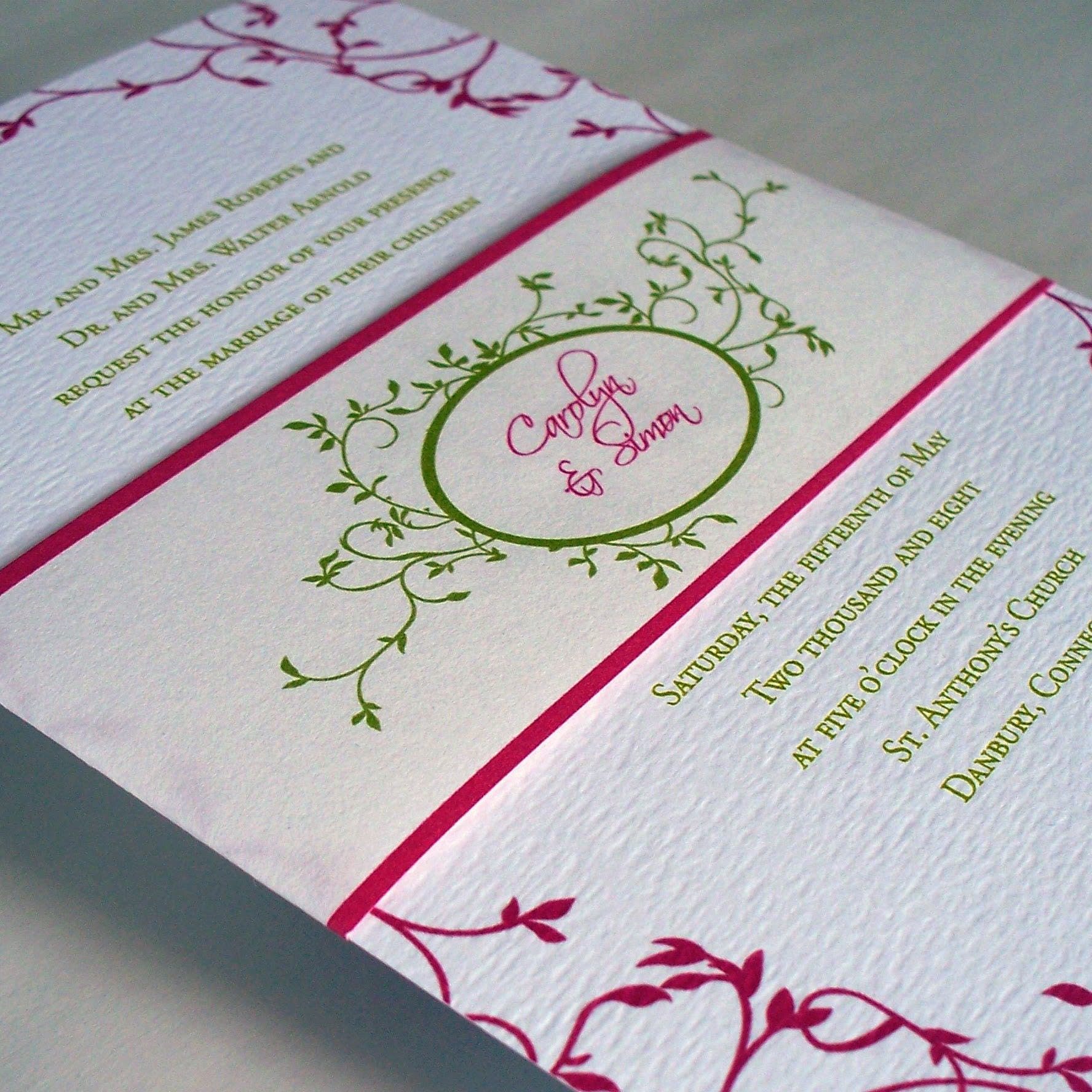 Outdoor Wedding Invitations: Secret Garden Wedding Invitation