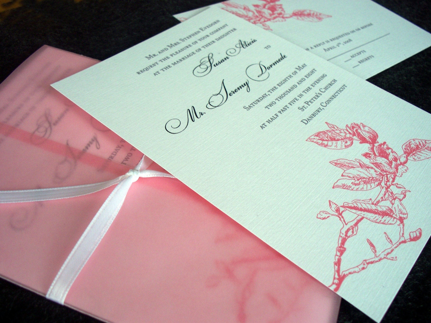 Atlanta Wedding Invitations: Magnolia Wedding Invitation Sample Atlanta By Tulaloo On Etsy