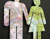 Where We're From - Love Vintage Map Figures