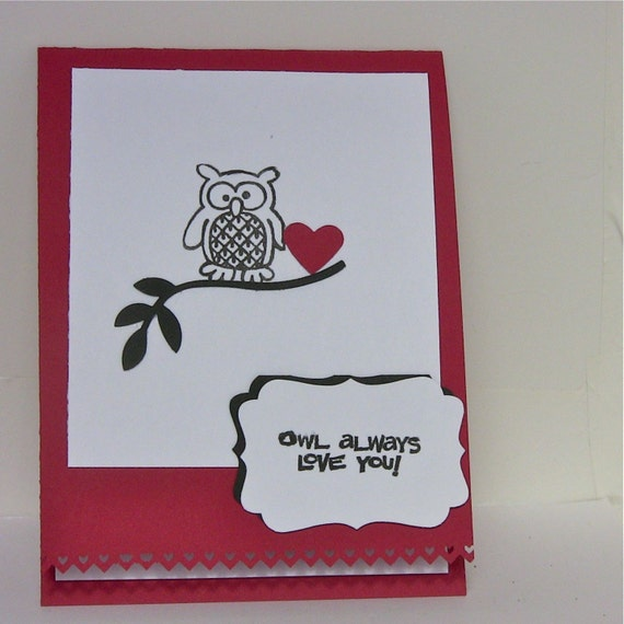 Owl Card Owl Always Love You Handmade Greeting by BayMoonDesign