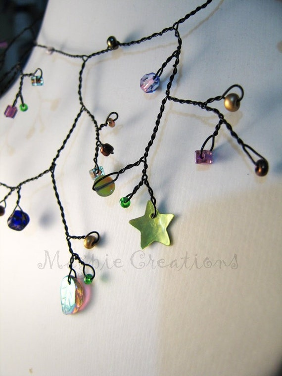 Crystal forest faery necklace