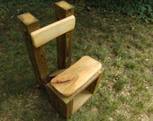 mullberry and treated pine architectural chair - (david)