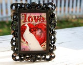 Original Acrylic Painting- Mini ACEO ATC- Love-Valentines Day