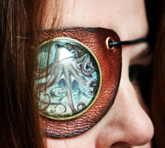 Octopus Leather Pirate Eyepatch-