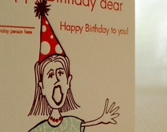 Happy Birthday to You - Letterpress Card