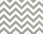 Premier Prints ZigZag Ash/White Chevron