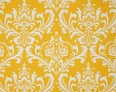 Premier Prints Ozborne Slub Yellow - Damask Fabric