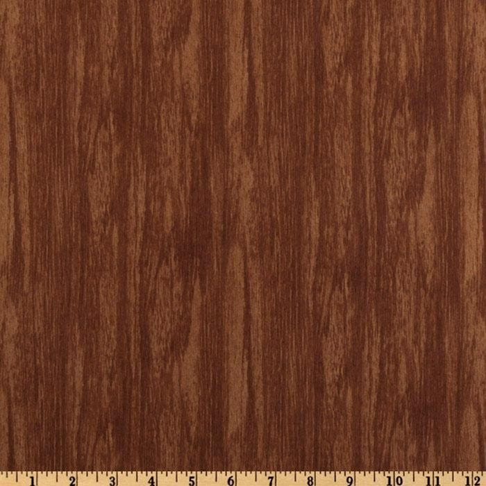 Knock On Wood Walnut Brown Woodgrain Fabric Last Yard