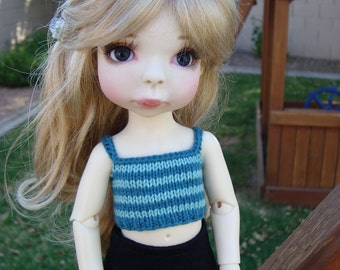 "Striped Knit Cami for 10"" BJD like Summer Lasher"