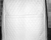White Mixer Cover Double Faced Quilted Bowl Lift
