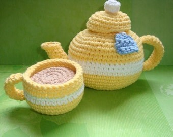 Teapot with Cup PDF PATTERN