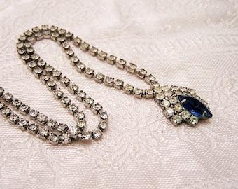 Vintage Rhinestone Necklace Needs a Little TLC. J83
