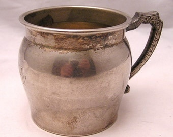 Antique or Vintage EPNS Cup Initialed RTS.