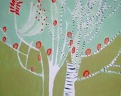 on sale. The Birch by Brooke Wandall original mixed media
