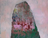 The Mountain and Her, Original oil painting on paper