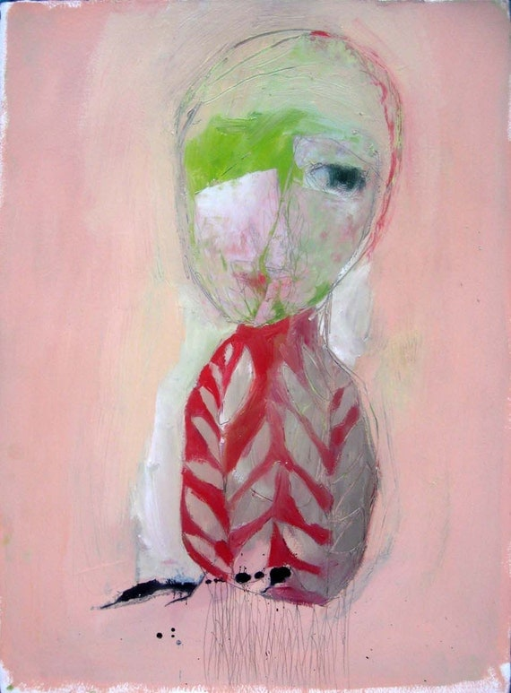 She Was Radish, Original oil painting on paper