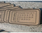 Calendar Tickets set of 12 Kraft