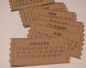Calendar Rafflet Ticket Journaling Spots KRAFT