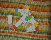Tiny Colored Tabs - set of 15