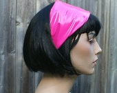 Neon Pink Shiny PVC Headband MTCoffinz - Ready to Ship
